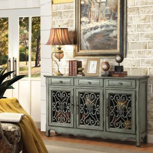 Traditional Accent Sideboard in Antique Green